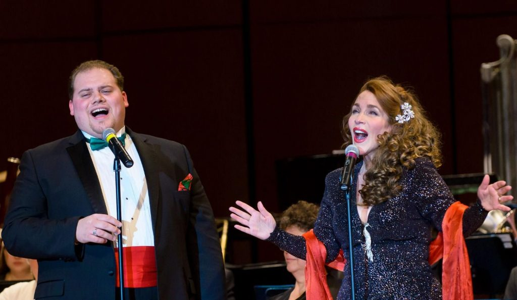 Capital Jazz Orchestra will bring its Holiday Pops to the Capitol Center on Sunday featuring guest vocalists CJ Poole and Laura Daigle and the Nashua Catholic Junior High School.