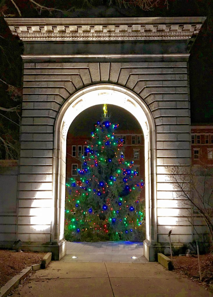 Next time you glance over at the Christmas tree in front of the State House, take a second to remember the soldiers and sailors who made the ultimate sacrifice so that we could live free. Courtesy of Jim Spain