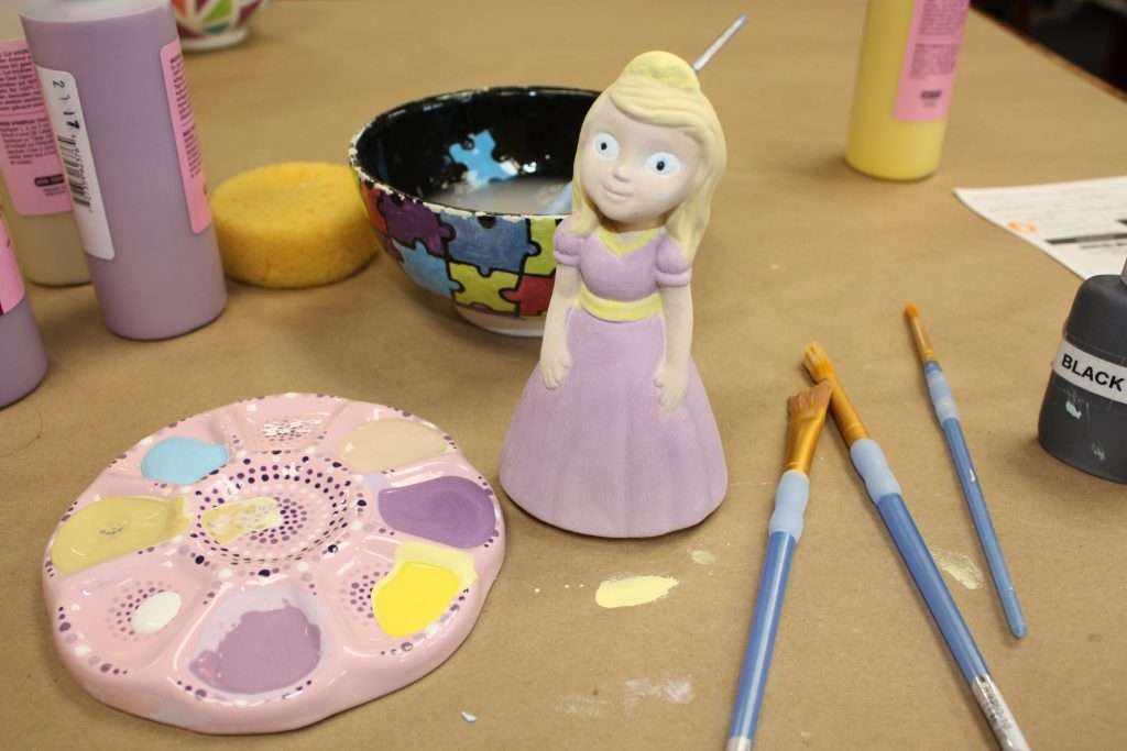 Jon made this little princess character for his daughter at You're Fired on Loudon Road last week. Check back next week to see how it turns out after it gets glazed and put in the kiln for about 24 hours. JON BODELL / Insider staff
