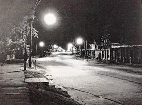 This photo shows Concord's Main Street in July 1953. The photo was taken shortly after Concord Electric installed new electric street lights on Main Street. Courtesy of Concord Public Library