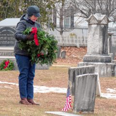 PHOTOS: Wreaths laid at veterans' graves in Concord's Old North Cemetery