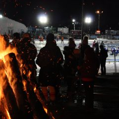 Scenes from the 1883 Black Ice Pond Hockey Championship – after dark