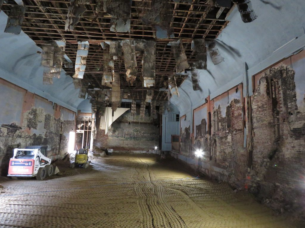 An interior of the old Concord Theatre is shown on August 29, 2018. Caitlin Andrews
