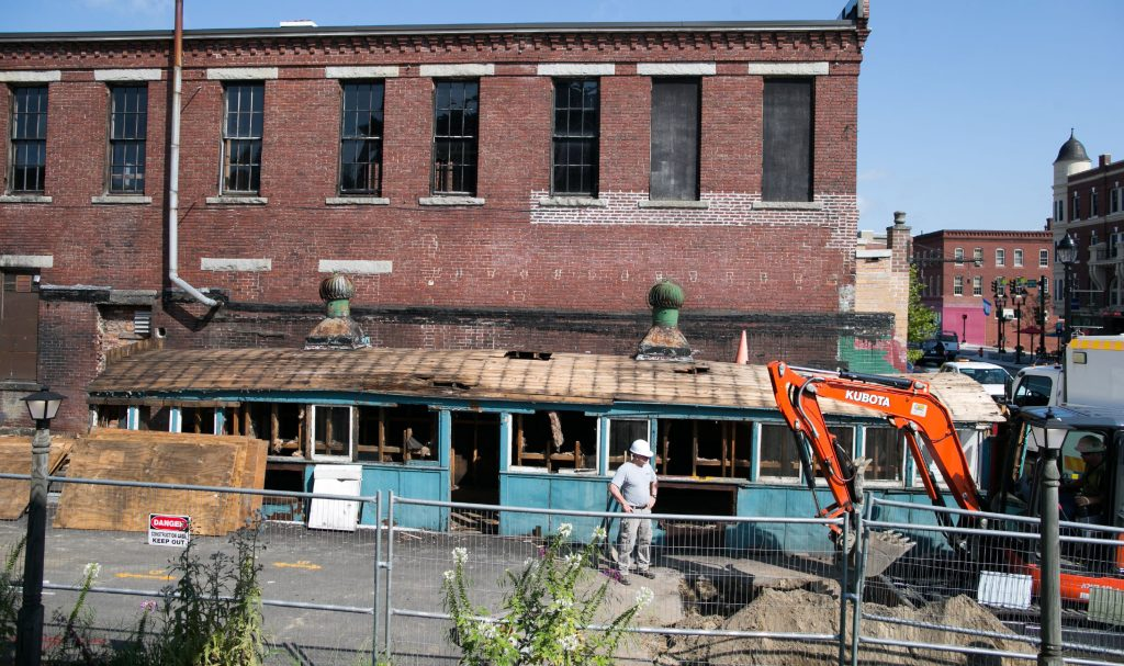 Capital Center for the Arts moves ahead with Concord Theatre project as work started on site Monday, August 27, 2018 in downtown Concord. GEOFF FORESTER