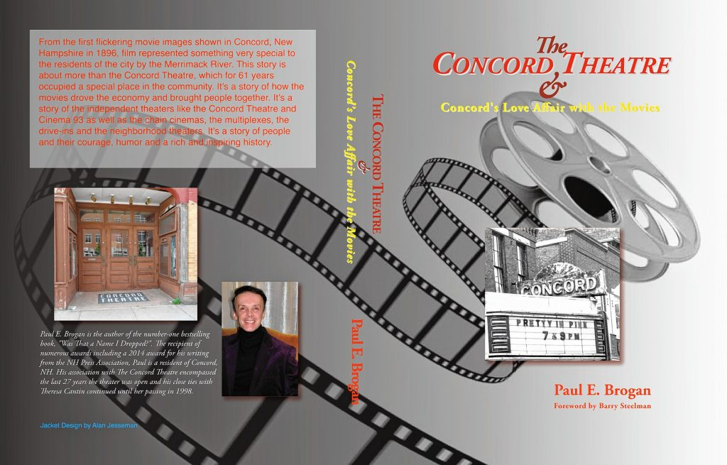 Upcoming book about the history of the Concord Theatre by Concord's Paul Brogan. Courtesy