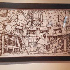 On Display: Illustrator David Petersen at St. Paul's School's Crumpacker Gallery