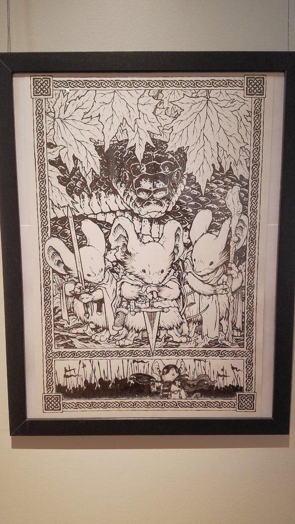 Mouseguard: Fall 1152, Mondo Poster Original Art, 2017. JON BODELL / Insider staff