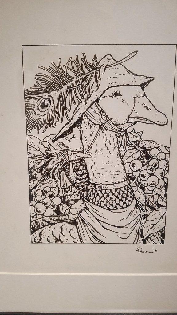 Mouse Guard: Goose Print Original Art, 2017. JON BODELL / Insider staff