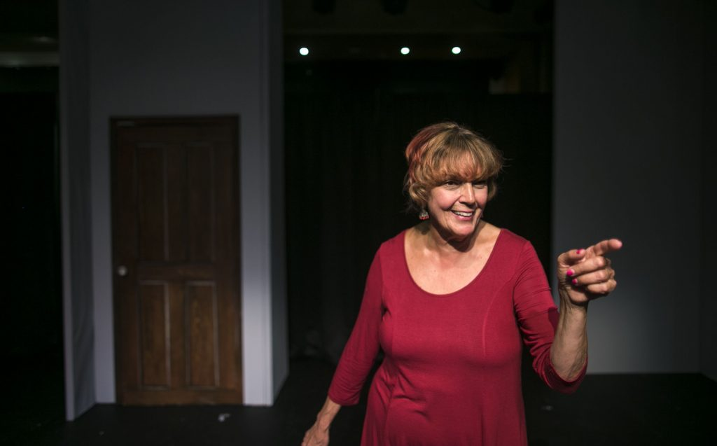 Doris Ballard during her private performance at the Hatbox Theatre at the Steeplegate Mall on July 25, 2018. She will be headlining with a group of comedians on August 10th. GEOFF FORESTER