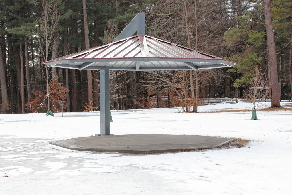 Not quite sure what this thing is, what it's for or when it was installed, but if you you've seen this gazebo-type thing, you know which park this is at.  JON BODELL / Insider staff