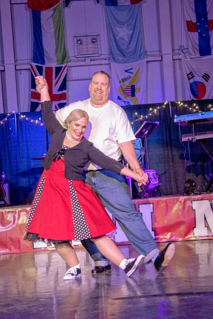 Jeanne and Mark Lester won the Best Costume award during the 9th annual Dancing With the Concord Stars competition at NHTI on Saturday. Bill Wilson / For NHTI