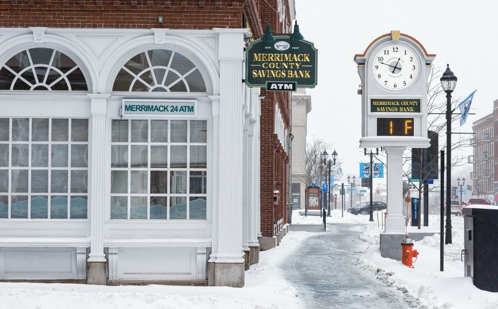The Merrimack County Savings Bank branch on Main Street in downtown Concord. GEOFF FORESTER