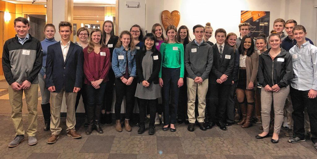 The Greater Concord Chamber of Commerce recently welcomed 24 students from eight Capital Region schools selected to take part in the Chamber's highly competitive 2019 Capital Area Student Leadership program, the state's only regional student leadership and civics course offered annually by the Chamber for high school sophomores in the Greater Concord area. Courtesy of Greater Concord Chamber of Commerce