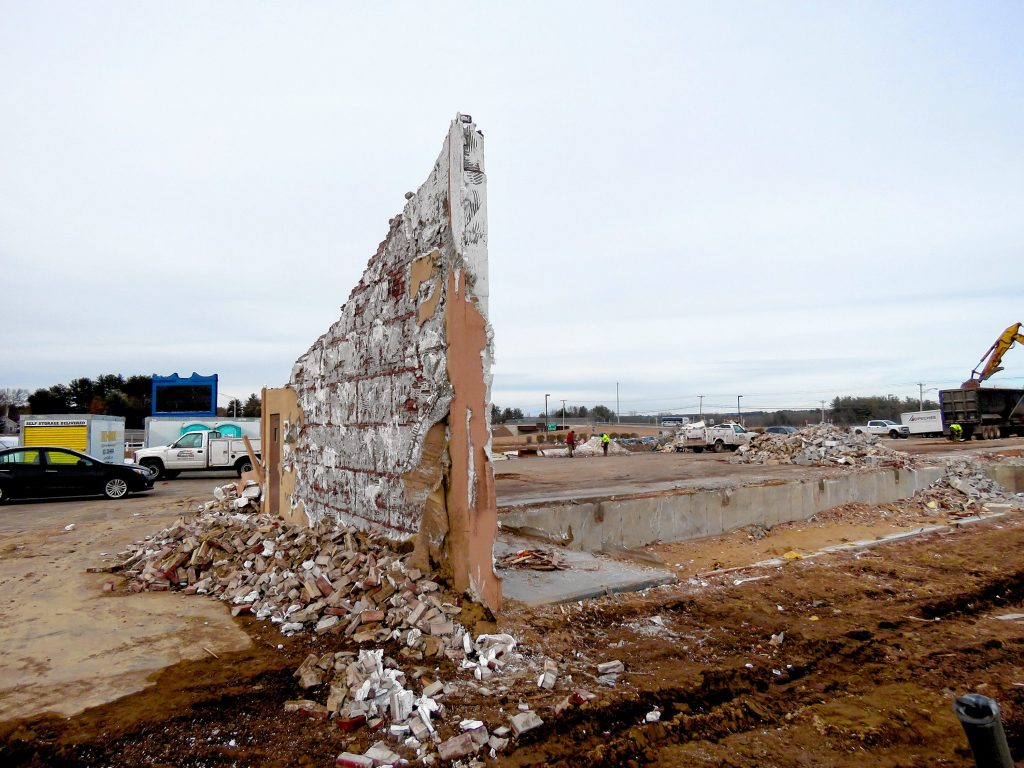 The Days Inn in South Concord near Bow Junction was torn down this week, making way for a new hotel that will be built on the same lot. Feb. 6, 2019. (NICK STOICO / Monitor staff) NICK STOICO
