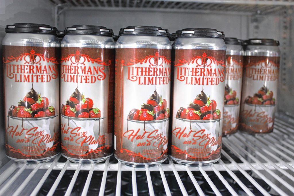 Lithermans Limited released Hot Sex on a Platter, its chocolate-covered strawberry imperial stout made especially for Valentine's Day, last Thursday, and there's plenty in stock at the brewery. Look for it at select stores, too. JON BODELL / Insider staff