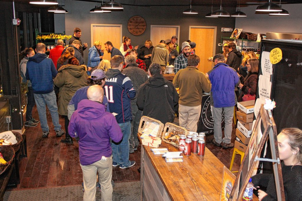 Local Baskit was overflowing with customers during the Brothers Donuts pairing/tasting event last week, which featured New Hampshire breweries offering beer pairings to go along with some pieces of Brothers Donuts.  JON BODELL / Insider staff