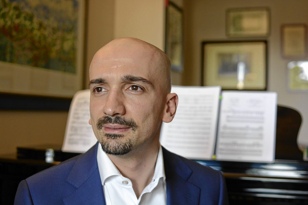 Stefano Sarzani will be the guest conductor for Symphony NH's performance at Concord City Auditorium on March 10. Courtesy of Symphony NH