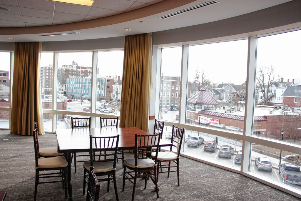 The signature feature of The Hotel Concord is its stunning views of downtown Concord. Most rooms have huge windows providing unrivaled views of the city, and several even have balconies that will be open this spring. JON BODELL / Insider staff