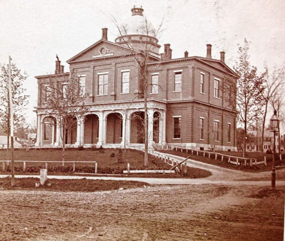 The Merrimack County courthouse in Concord, seen in 1860. Courtesy of N.H. Historical Society