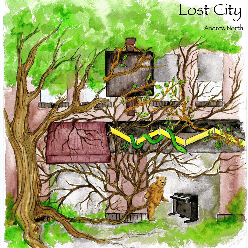 Lost City, the new solo album by Andrew North. Courtesy of Andrew Grosvenor