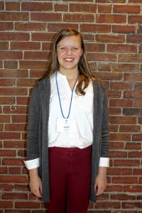 Sarah McCarthy, Bow High. One word that describes me: Determined. Two qualities of a good leader: Being empathetic willing to think outside the box and welcome change. If you could spend a day with one person, who would it be? I would spend a day with George Washington because he was the first leader of America and I could learn a lot from him. JON BODELL / Insider staff