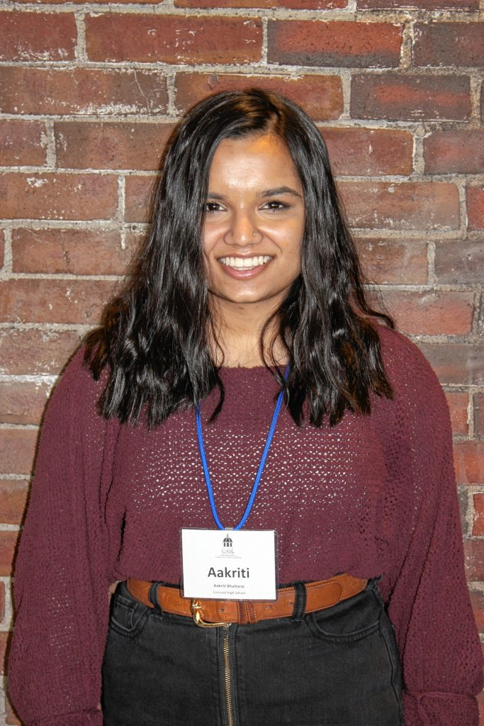 Aakriti Bhattarai, Concord High.  One word that describes you: Outgoing. Two qualities of a good leader: Caring and inspiring. If you could spend a day with one person, who would it be? Michelle Obama because she's super empowering. JON BODELL / Insider staff