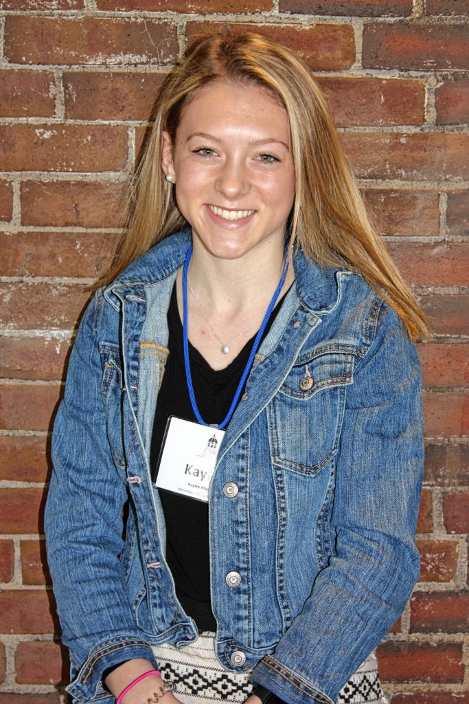 Kaylee Magoon, Merrimack Valley High School. One word that describes you: Curious. Two qualities of a good leader: Standing out when helping others and being the change within society. If you could spend a day with one person, who would it be? I would spend a day with Ellen because she is caring and helpful to others around her.  JON BODELL / Insider staff