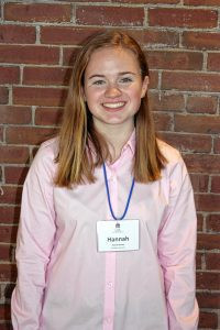 Hannah Brown, Pembroke Academy. One word that describes you: Determined. Two qualities of a good leader: Motivating and caring. If you could spend a day with one person, who would it be? Oprah. JON BODELL / Insider staff