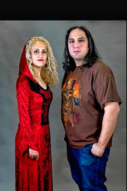 Farhood Ghadiri (right) and his wife, Anis Oveisi, form the progressive rock band Delusive Relics, who will play at Hatbox Theatre on March 22. Courtesy of Louis Karno & Co.