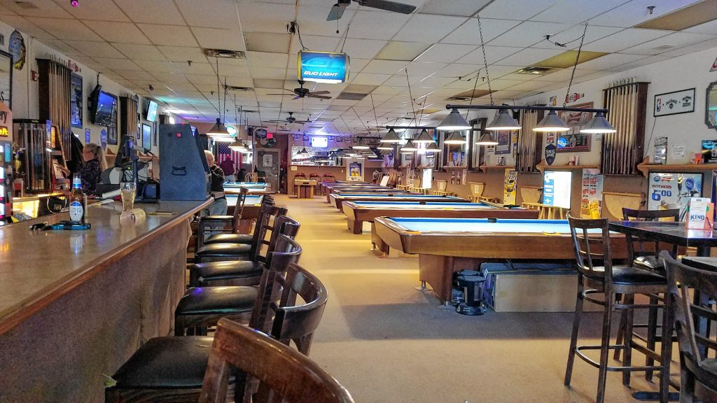 Cues & Cushion is a no-nonsense billiards bar located in the RK Center strip mall in Hooksett. You can play pool, bumper pool, video poker and keno while you enjoy a drink and a bite. JON BODELL / Insider staff