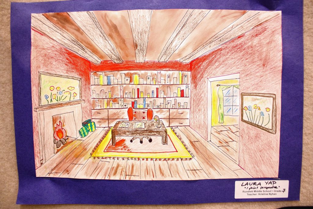 There's a lot of impressive student artwork on display at Steeplegate Mall during Youth Art Month. JON BODELL / Insider staff