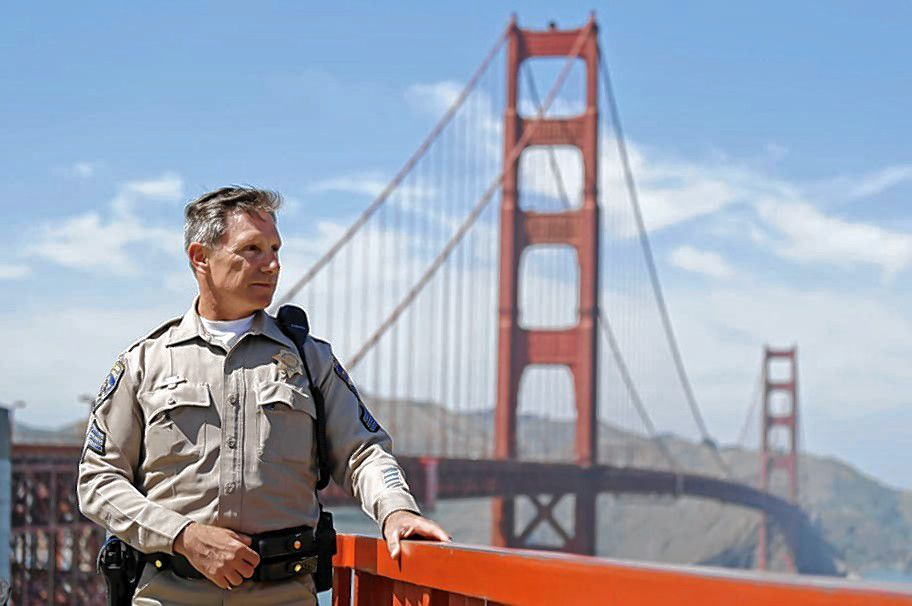 Kevin Briggs, a former sergeant with the California Highway Patrol, looks out over San Francisco's bay.