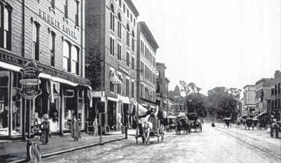 Concord's Main Street, shown here in the late 1800s, was first formally discussed on June 23, 1785. Courtesy of N.H. Historical Society