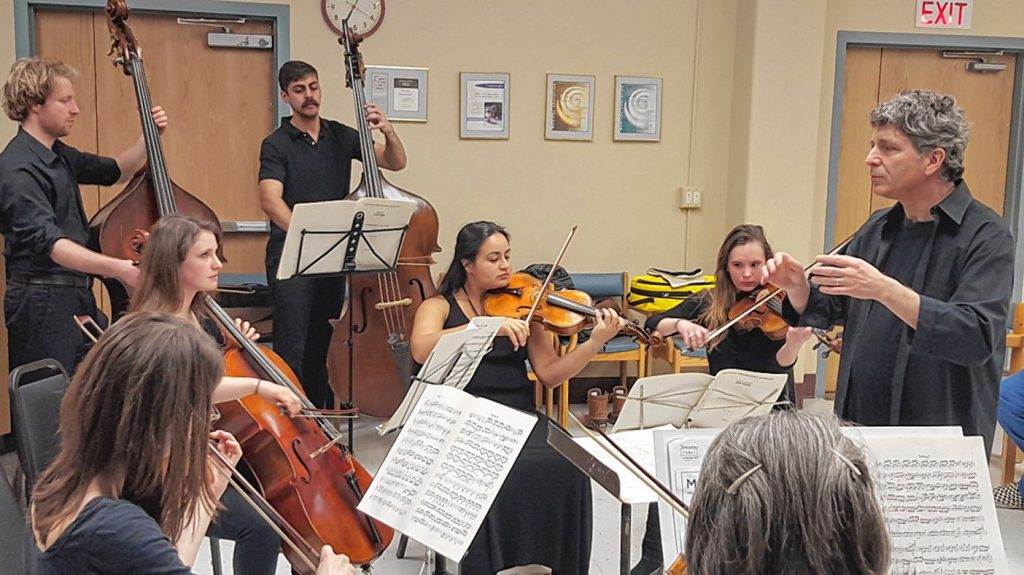 The Me2 Orchestra rehearses at Shattuck Hospital.