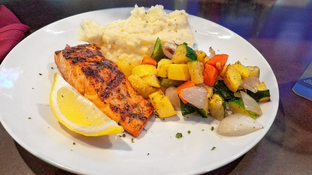 The Red Blazer won the Cappies award for Best Restaurant, so we went and ordered a grilled salmon lunch. JON BODELL / Insider staff