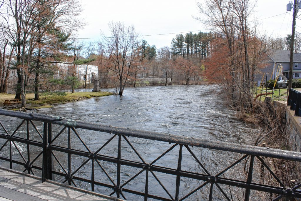 The Tilton Island Park, in the Winnipesaukee River, is one of Tilton's quaint, peaceful landmarks. The bridge that leads from the street to the island is on the National Register of Historic Places.  JON BODELL / Insider staff