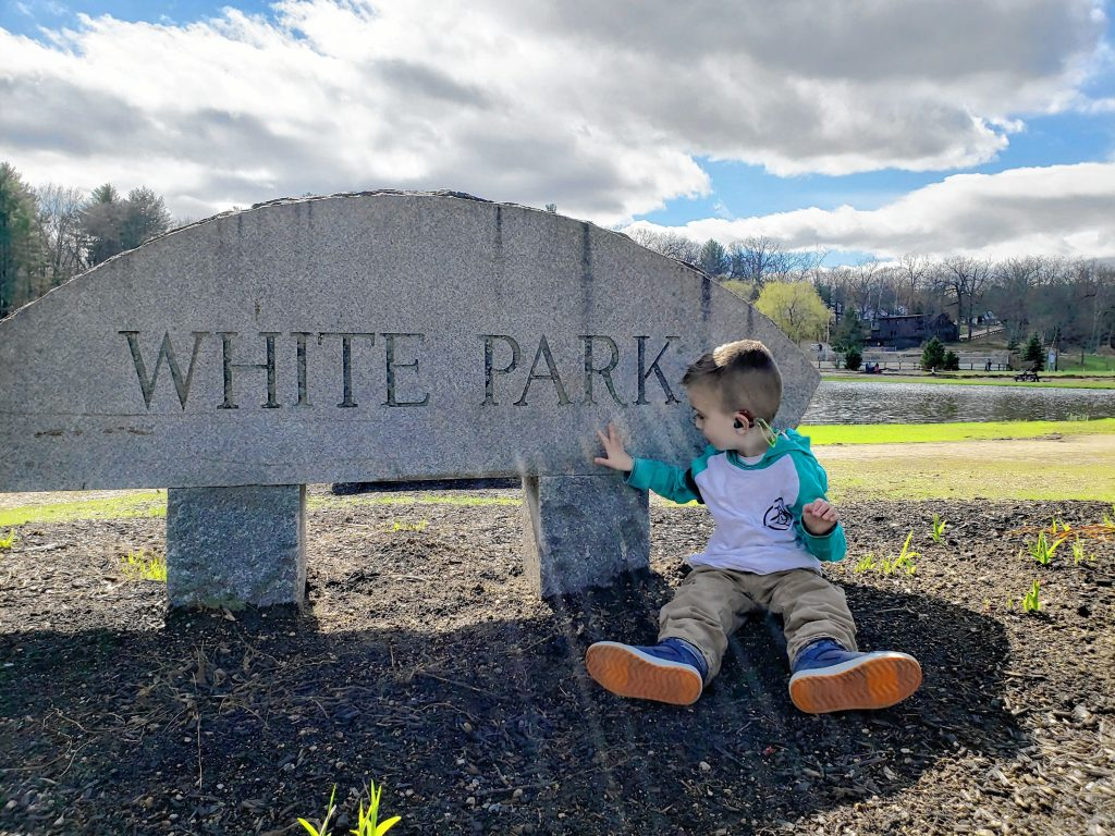 Riley Duquette of Concord loves taking in all that White Park has to offer. You can join in the fun with Riley at the third annual Running for Riley fundraiser at White Park on Tuesday, May 28. Courtesy of Karly Moseley