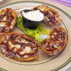 Tilt'n Diner has some tasty pulled pork potato skins