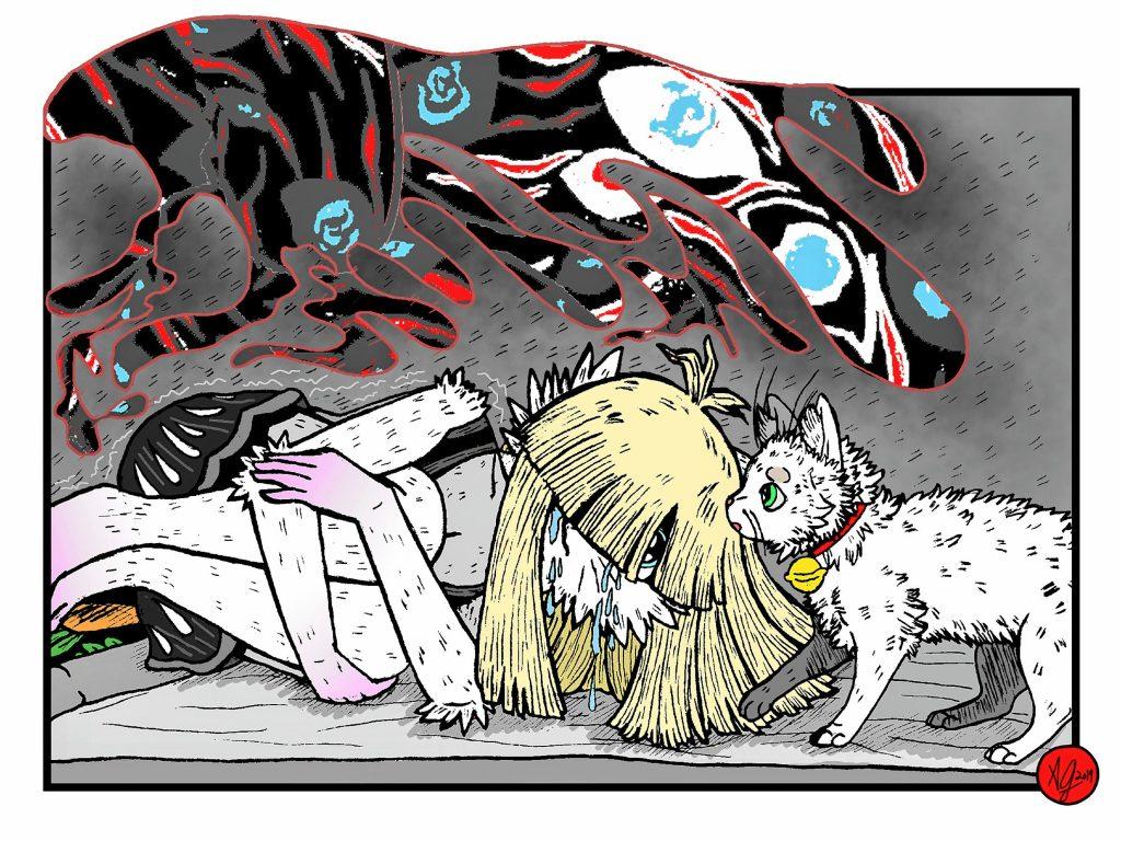 Emo Bunny: Anxiety Looms Part 2 by Amaranthia Sepia. Courtesy of Amaranthia Sepia