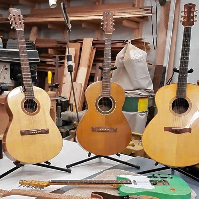 Luthier Steve Marcq makes guitars by hand, and he'll be demonstrating his skills at Traditional Craft Days at Canterbury Shaker Village on Sunday. Courtesy of Steve Marcq
