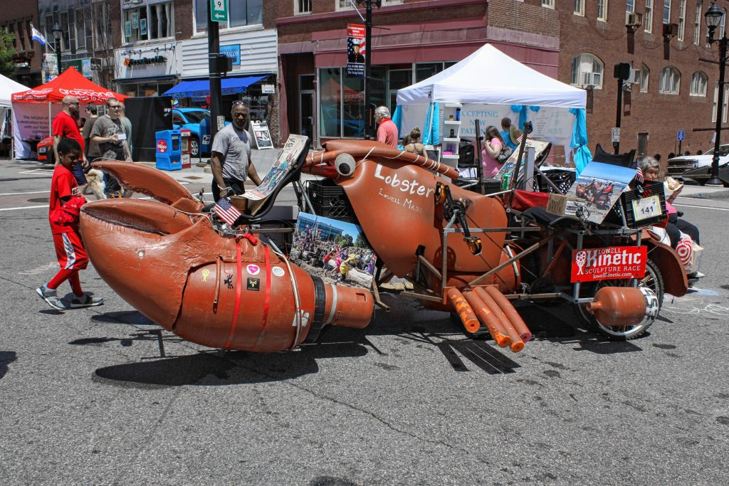 This lobster-shaped kinetic sculpture drew a lot of attention -- and questions -- from visitors at Market Days. JON BODELL / Insider staff