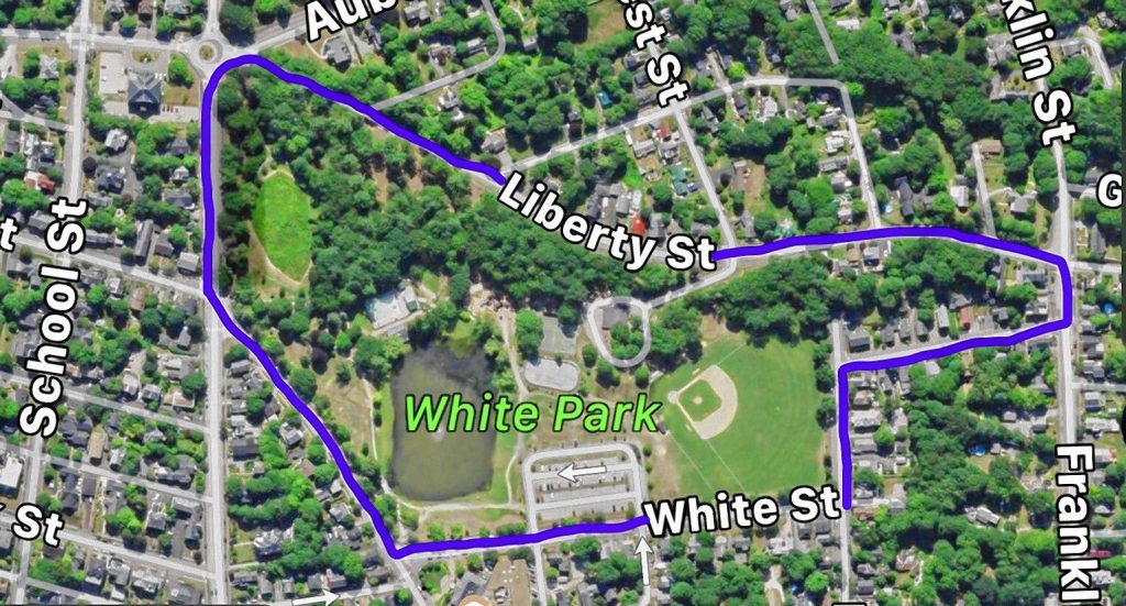 The route for the 39th annual Concord Criterium is a mile loop around White Park. Courtesy of Sunapee Racing