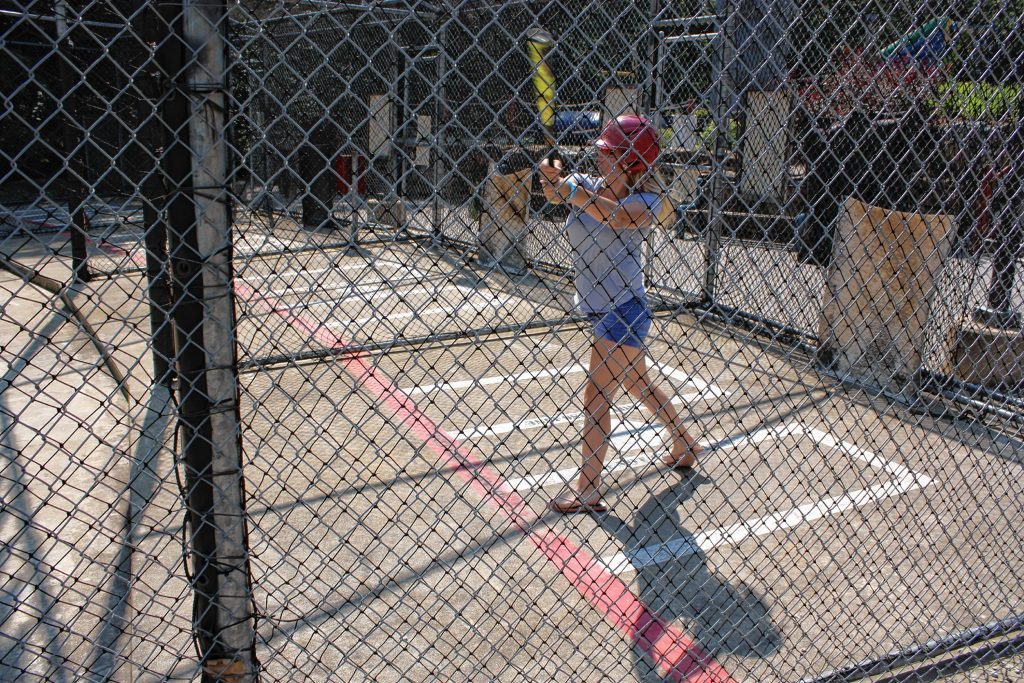 Jasmine VanSpanje was lacing liners all over the place in the batting cage at Chuckster's last week. JON BODELL / Insider staff