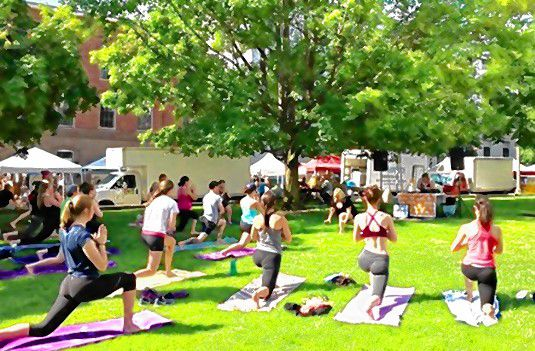 Don't miss the outdoor yoga session on the State House lawn with 43 Degrees North Athletic Club this Sunday as part of Rock On Fest. Courtesy of Crystal Reynolds