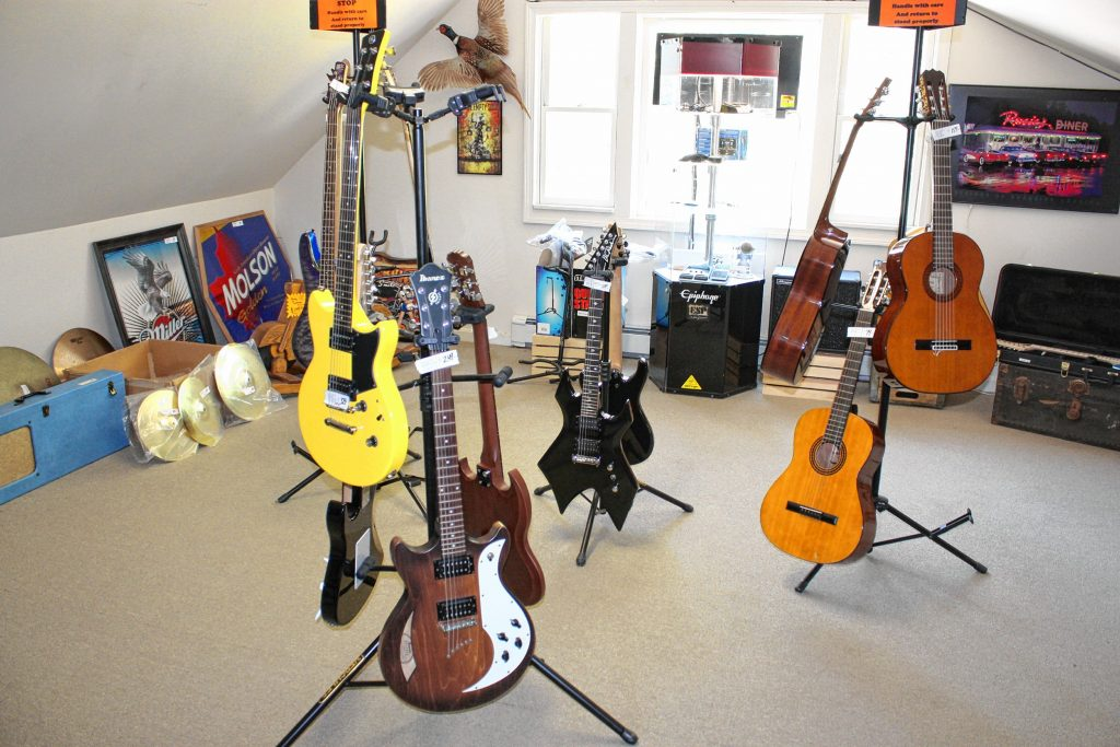 At Friendly Guy Traders in Epsom, you'll find pretty much everything -- handmade knives, electronics, guitars, jackalopes, etc.  JON BODELL / Insider staff