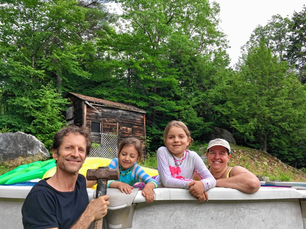 Mike Morris knows a thing or two about putting pools together -- and his family gets to reap the benefits!  Courtesy of Mike Morris