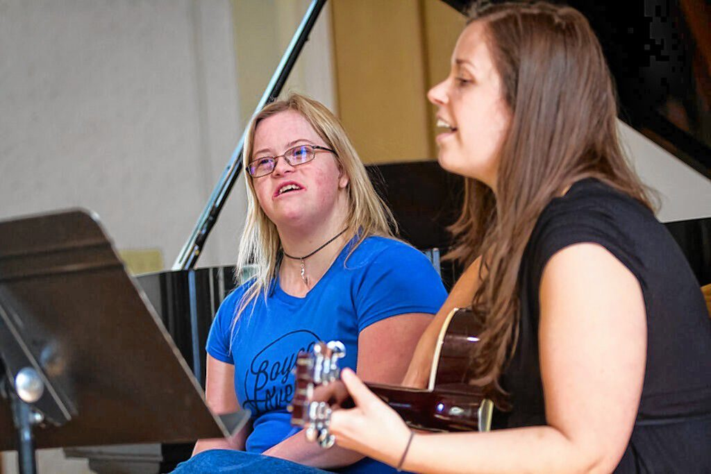 Sarah Cooley (left) and Julieann Hartley will be among the performers at the Concord Coalition to End Homelessness Talent Show on Oct. 5. The duo will perform an original song written by Cooley.  Courtesy of Concord Coalition to End Homelessness