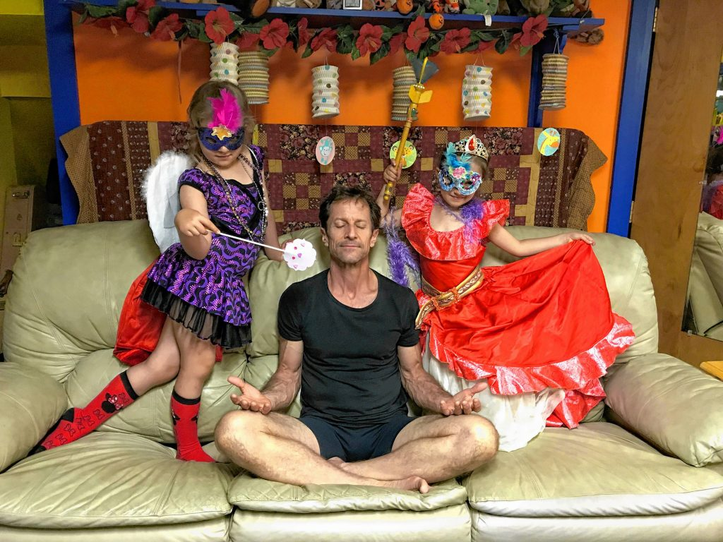 Las Vegas is home to showgirls, circus animals, casinos and -- yoga instruction classes. Courtesy of Mike Morris