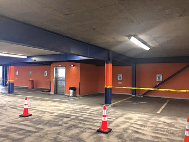The School Street parking garage now has color-coded levels to help you remember where you parked. Courtesy of City of Concord