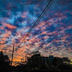 Instagram: Infinite colors ripple through the morning sky over Allison Street